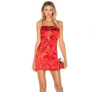 I.Am.Gia Dresses - I AM GIA Red Kiko Dress Brocade Mini Retro 90s M